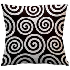 "Rhythm Kagiso Pattern Brown 18"" Square Down Throw Pillow"