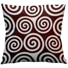 "Rhythm Kagiso Pattern Cocoa 18"" Square Down Throw Pillow"