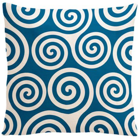 "Rhythm Kagiso Pattern Ocean 18"" Square Down Throw Pillow"