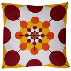 "Rhythm Kahawia Floral 18"" Square Down Throw Pillow"