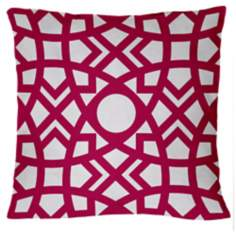 "Saffron Jasmina Fandango Pink 18"" Square Down Throw Pillow"