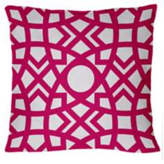 "Saffron Jasmina Hollywood Pink 18"" Square Down Throw Pillow"