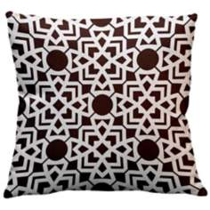 "Saffron Karina Chocolate 18"" Square Down Throw Pillow"