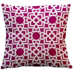 "Saffron Karina Fandango Pink 18"" Square Down Throw Pillow"