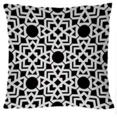 "Saffron Karina Black 18"" Square Down Throw Pillow"