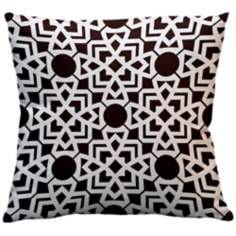 "Saffron Karina Seal Grey 18"" Square Down Throw Pillow"