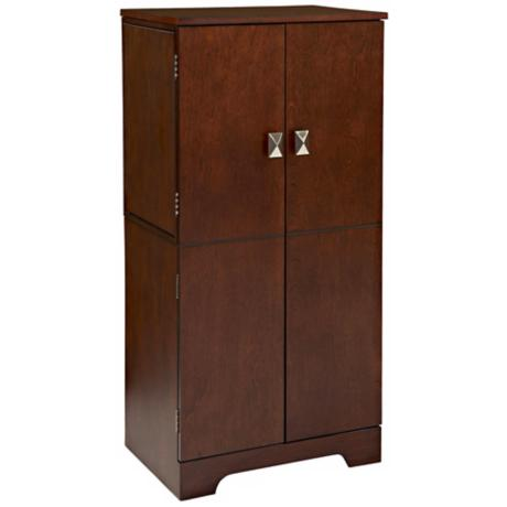 Victoria Espresso 4-Drawer Jewelry Armoire