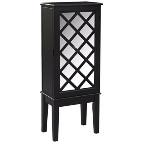 Helen Contemporary Black Jewelry Armoire