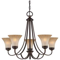 "Quoizel Aliza 5-Light Bronze 28 1/2""W Chandelier"