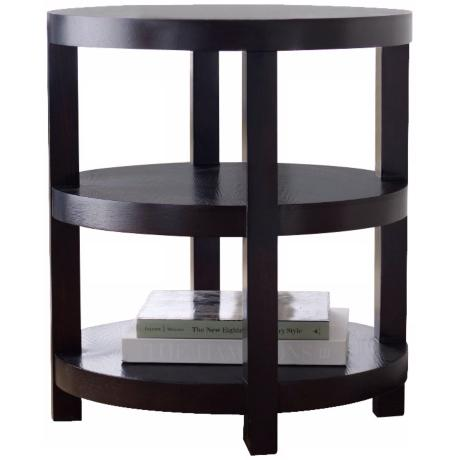 Morgan Round Espresso End Table
