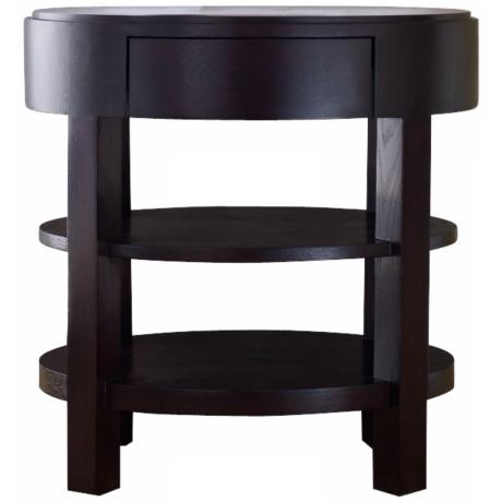 Gracia Ellipse Espresso End Table