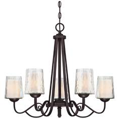 "Quoizel Adonis 5-Light 26""W Dark Cherry Chandelier"