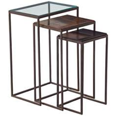 Arteriors Home Set of 3 Knight Iron Tables