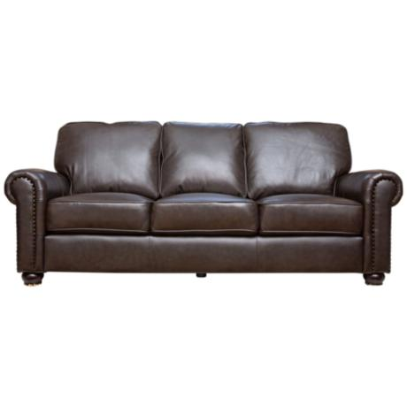 Westwood Rich Dark Brown Leather Sofa