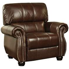 Lorenzo Burgundy Leather Armchair