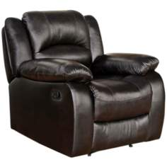 Merced Brown Leather Recliner