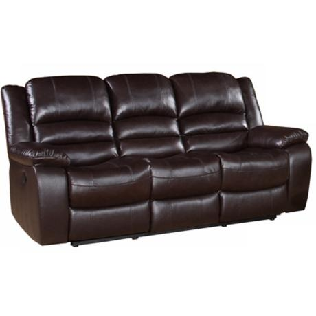 Merced Reclining Dark Brown Sofa