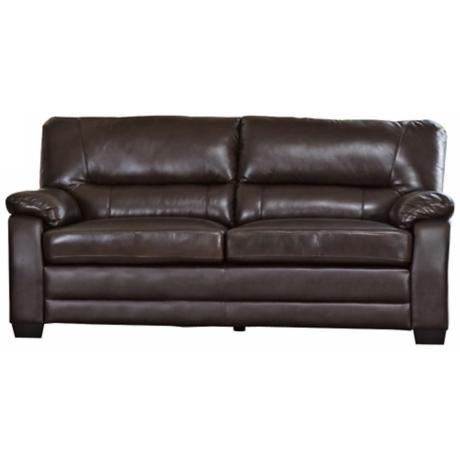 Capisterano Brown Leather Sofa