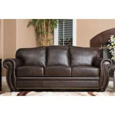 California Leather Brown Sofa