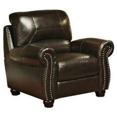 Capisterano Dark Brown Italian Leather Armchair