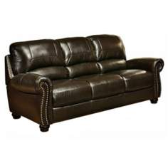 Capisterano Dark Brown Italian Leather Sofa