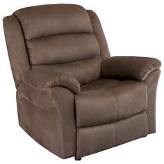Napa Microsuede Brown Rocker Recliner