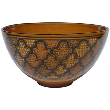 Le Souk Ceramique Honey Design Deep Salad/Pasta Bowl