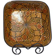 Le Souk Ceramique Honey Design Square Serving Bowl