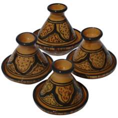 Le Souk Ceramique Honey Design Set of 4 Mini Tagines