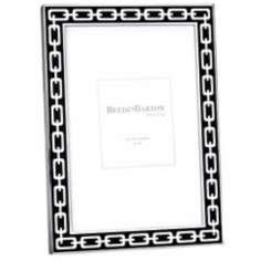 "Reed and Barton Silver Link 4x6"" Midnight Black Frame"