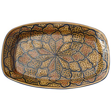 Le Souk Ceramique Honey Design Rectangular Platter