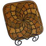 Le Souk Ceramique Honey Design Square Platter