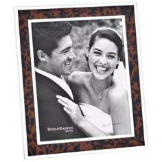 "Reed and Barton Tortoise 8x10"" Contemporary Picture Frame"