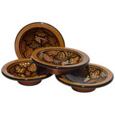 Le Souk Ceramique Honey Set of 4 Round Sauce Dishes
