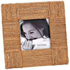 "Reed and Barton Montauk 6x6"" Textured Rope Picture Frame"