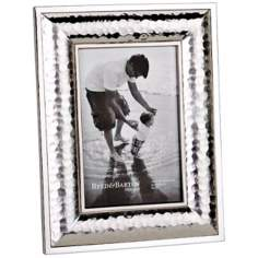 "Reed and Barton Dorsey 4x6"" Hammered Silver Picture Frame"