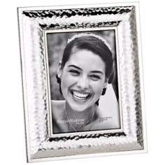 "Reed and Barton Dorsey 5x7"" Hammered Silver Picture Frame"
