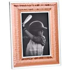 "Reed and Barton Dorsey 4x6"" Hammered Copper Picture Frame"