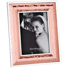 "Reed and Barton Dorsey 5x7"" Hammered Copper Picture Frame"