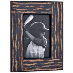 "Reed and Barton Logan 4x6"" Inlaid Coco Twig Picture Frame"