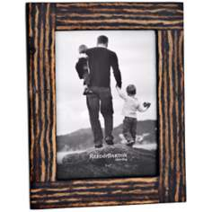 "Reed and Barton Logan 5x7"" Inlaid Coco Twig Picture Frame"