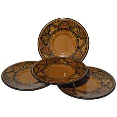 Le Souk Ceramique Honey Design Set of 4 Saucers