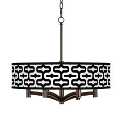 Reflection Ava 6-Light Bronze Pendant Chandelier