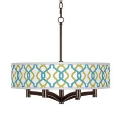 Hyper Links Ava 6-Light Bronze Pendant Chandelier