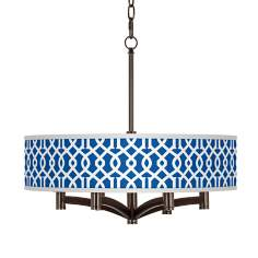 Chain Reaction Ava 6-Light Bronze Pendant Chandelier