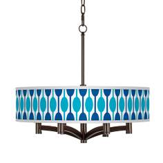Jet Set Ava 6-Light Bronze Pendant Chandelier