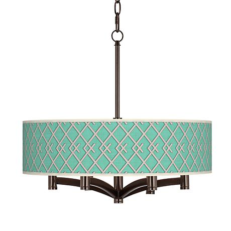 Crossings Ava 6-Light Bronze Pendant Chandelier