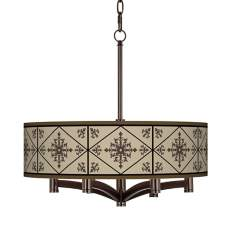 Chambly Ava 6-Light Bronze Pendant Chandelier