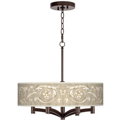 Laurel Court Ava 6-Light Bronze Pendant Chandelier