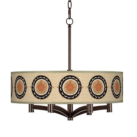 Travelers Compass Ava 6-Light Bronze Pendant Chandelier